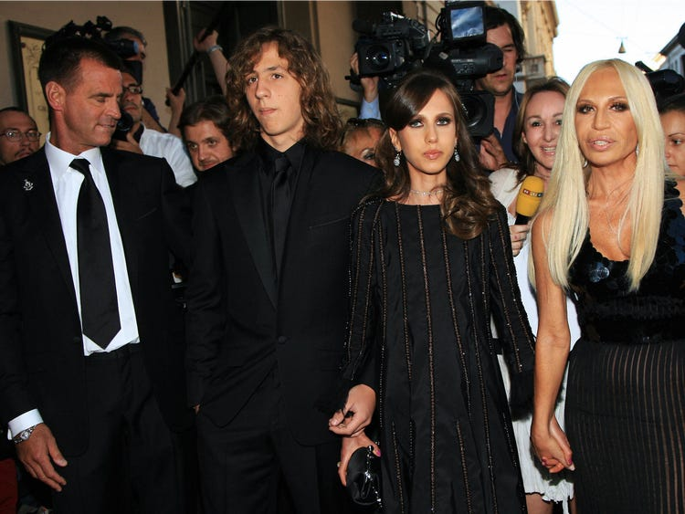 donatella versace's family