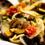 Food on Italian tables in summer