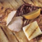 Grilled Monkfish with Radicchio and Polenta