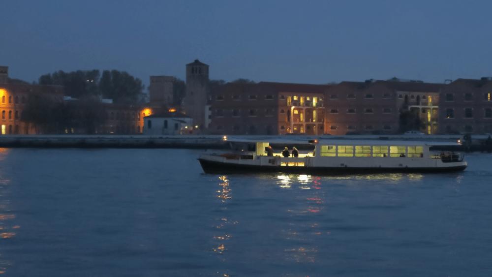 Giudecca island at night venice