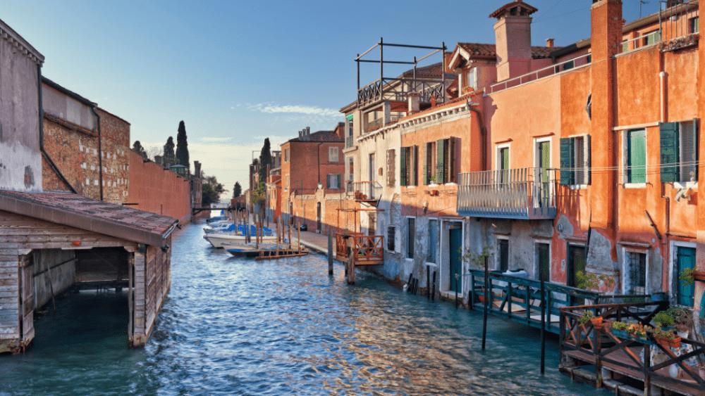 giudecca island canal venice