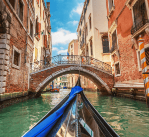 gondola venice canal bridge