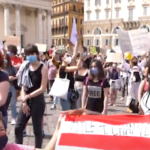 Video: Italians in the street for George Floyd